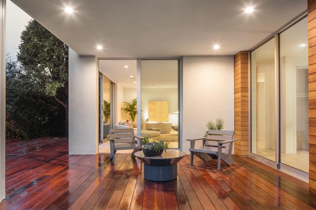 terrasse bois chaleureux